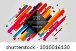 vector  abstract geometric... | Shutterstock .eps vector #1010016130