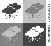 weather forecast. clouds of... | Shutterstock .eps vector #1010016358