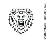 lion mascot head vector... | Shutterstock .eps vector #1010017468