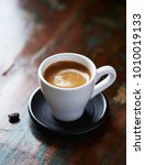 cup of espresso and coffee bean.... | Shutterstock . vector #1010019133