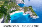 an aerial view of island and... | Shutterstock . vector #1010019400