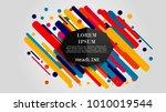 vector  abstract geometric... | Shutterstock .eps vector #1010019544