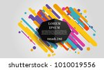 vector  abstract geometric... | Shutterstock .eps vector #1010019556