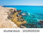mediterranean sea landscape.... | Shutterstock . vector #1010020234