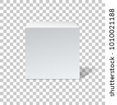 white cube  box with shadow... | Shutterstock .eps vector #1010021188