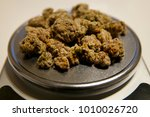 Marijuana Being Weighed On A...