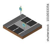 print isometric traffic lights... | Shutterstock .eps vector #1010033356