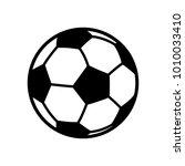 soccer ball icon vector | Shutterstock .eps vector #1010033410