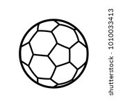 soccer ball icon vector | Shutterstock .eps vector #1010033413
