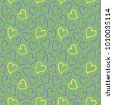 hearts seamless pattern on the... | Shutterstock .eps vector #1010035114