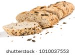 sliced whole grain multigrain... | Shutterstock . vector #1010037553