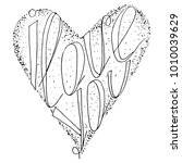 black lettering  heart figure i ...   Shutterstock .eps vector #1010039629