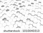 white hexagon 3d background... | Shutterstock . vector #1010040313