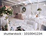 wedding celebration. banquet... | Shutterstock . vector #1010041234