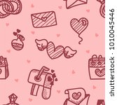 seamless pattern about... | Shutterstock .eps vector #1010045446