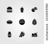 food and drinks vector icon set.... | Shutterstock .eps vector #1010054980