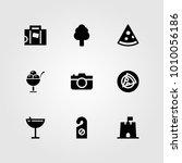 summertime vector icon set.... | Shutterstock .eps vector #1010056186