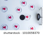 Small photo of Football button with plastic lock and acrylic button as players