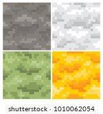 pixel camouflage seamless...   Shutterstock .eps vector #1010062054