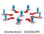 business people network | Shutterstock . vector #101006290