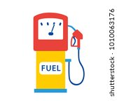 gas fuel pump flat icon.... | Shutterstock .eps vector #1010063176