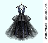gorgeous party dress. party... | Shutterstock .eps vector #1010064646