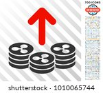 spend ripple coins pictograph... | Shutterstock .eps vector #1010065744