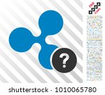 ripple unknown status icon with ... | Shutterstock .eps vector #1010065780