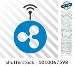 ripple radio transmitter... | Shutterstock .eps vector #1010067598