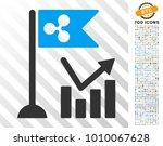 ripple flag trend chart... | Shutterstock .eps vector #1010067628