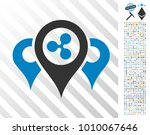 ripple locations icon with 7... | Shutterstock .eps vector #1010067646