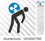 ripple courier pictograph with... | Shutterstock .eps vector #1010067700