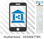 ripple mobile bank pictograph... | Shutterstock .eps vector #1010067784
