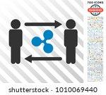 people exchange ripple... | Shutterstock .eps vector #1010069440