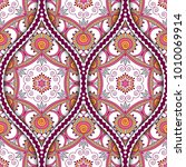 seamless pattern with ethnic...   Shutterstock .eps vector #1010069914