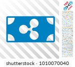 ripple banknote pictograph with ... | Shutterstock .eps vector #1010070040