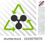 ripple recycling icon with 7... | Shutterstock .eps vector #1010070070