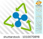 ripple recycling icon with 700... | Shutterstock .eps vector #1010070898