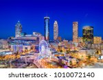 atlanta  georgia  usa downtown... | Shutterstock . vector #1010072140