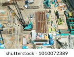 large scale construction site... | Shutterstock . vector #1010072389
