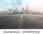 urban road square and skyline... | Shutterstock . vector #1010074426