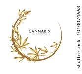 marijuana  cannabis logo... | Shutterstock .eps vector #1010074663