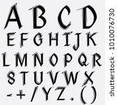 vector a z alphabet. exclusive... | Shutterstock .eps vector #1010076730