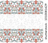 floral pattern for invitation... | Shutterstock .eps vector #1010081629