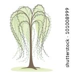 deciduous tree on a white... | Shutterstock .eps vector #101008999
