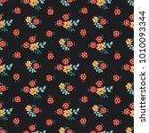 seamless vector ornamental... | Shutterstock .eps vector #1010093344