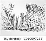 times square is a major...   Shutterstock .eps vector #1010097286