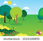 vector cartoon illustration of... | Shutterstock .eps vector #1010100850