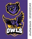 sport mascot style of owl in set   Shutterstock .eps vector #1010102143