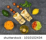 carrot  pepper  avocado ... | Shutterstock . vector #1010102434